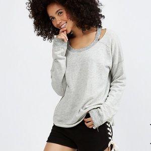 n:philanthropy Petra distressed sweatshirt medium